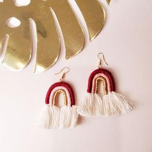 Boho Rainbow Earrings 🌿